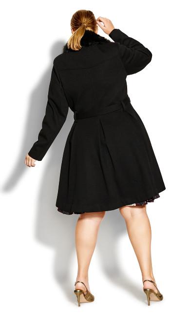 Blushing Belle Coat - black