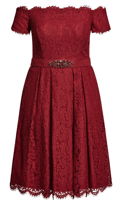 Lace Dreams Dress - red