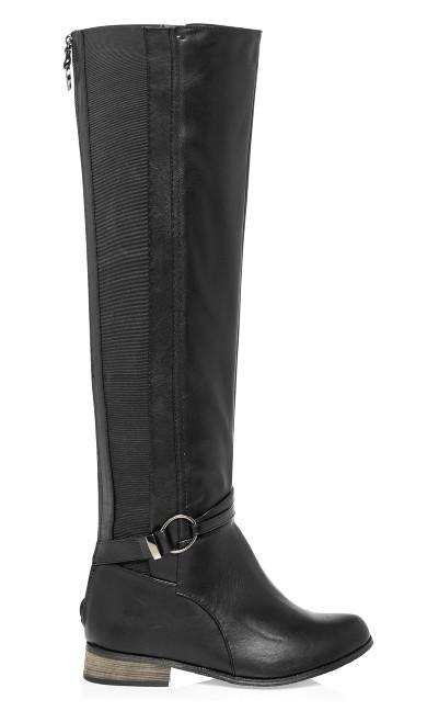 Phoebe Knee High Boot - black