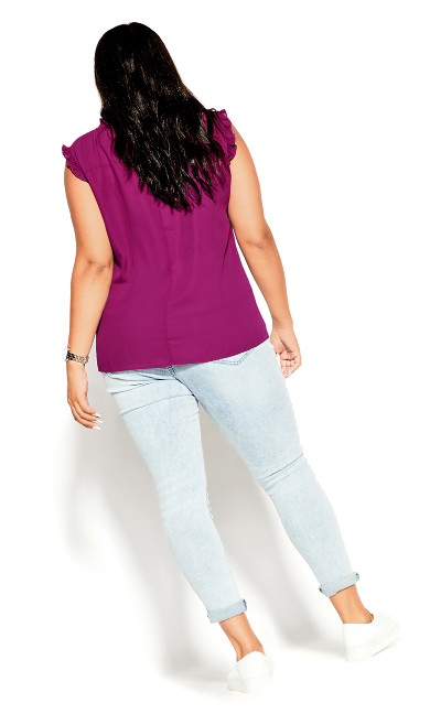 Lace Angel Top - magenta