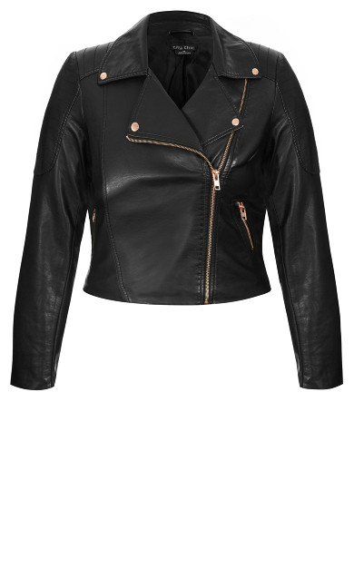 Zip Biker Jacket - black