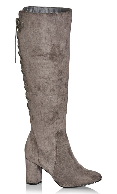 Perry Knee Boot - steel