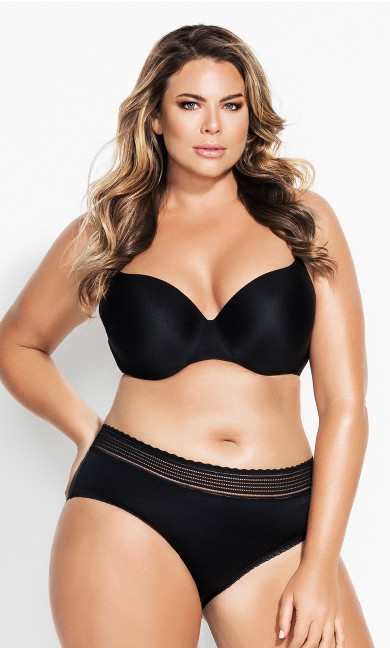 Women's Plus Size Bodycon Contour Bra - black