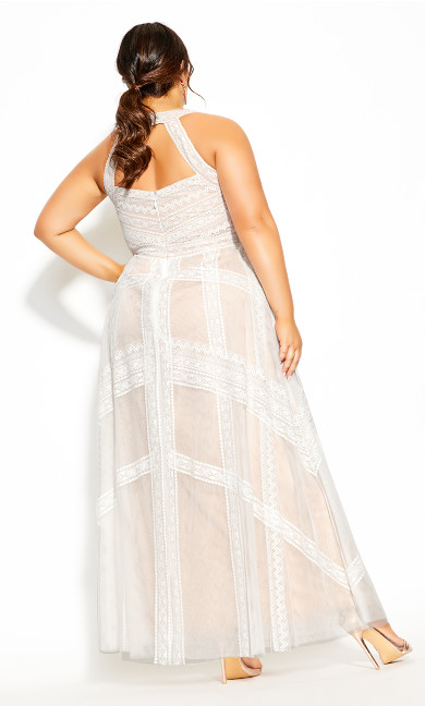 Divine Whimsy Maxi Dress - ivory