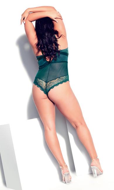 Boudoir Overt Bodysuit - emerald