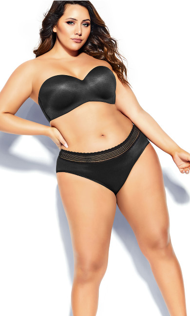 Plus Size Bodycon Multiway Bra - black