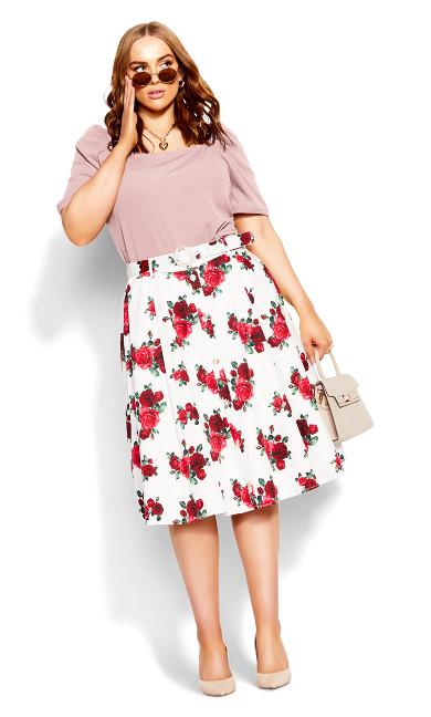 Romantic Elbow Sleeve Top - dusty rose