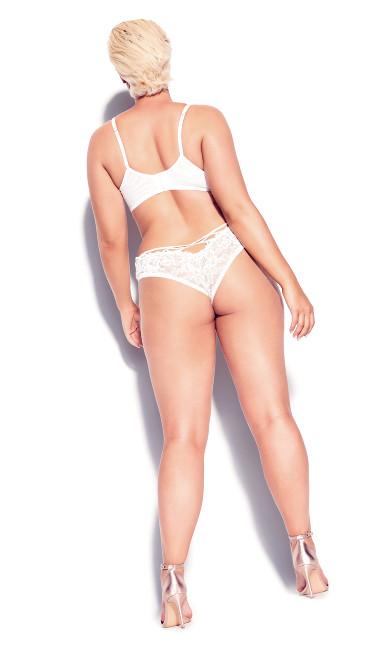 Olivia Strappy Lace Bra - Ivory