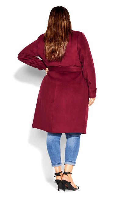 So Sleek Coat - sangria