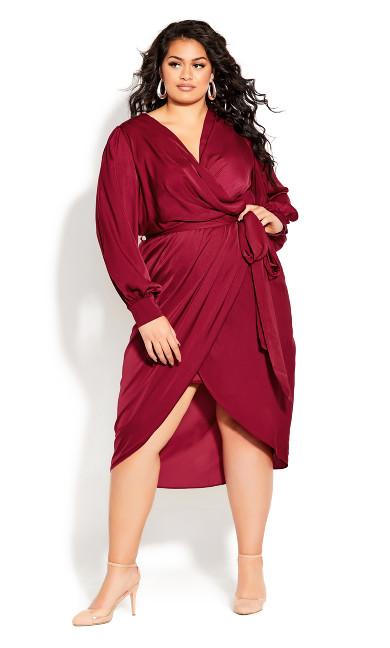 Plus Size Opulent Dress - sangria