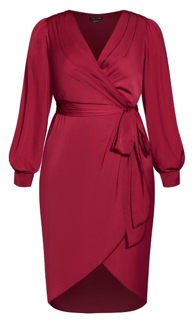 Opulent Dress - sangria