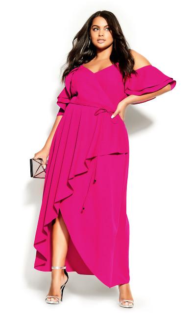 Plus Size Miss Jessica Maxi Dress - pink