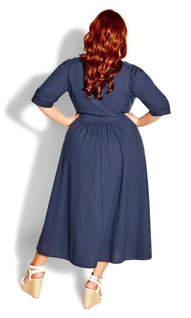 Sunset Stroll Dress - navy