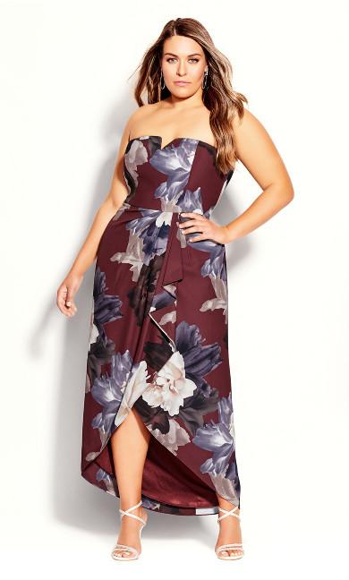 Miss Bordeaux Dress - burgundy