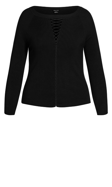 Criss Cross Jumper - black