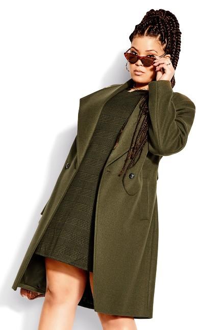 Sassy Military Coat - khaki
