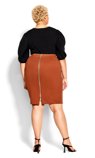 Midi Tube Skirt - ginger