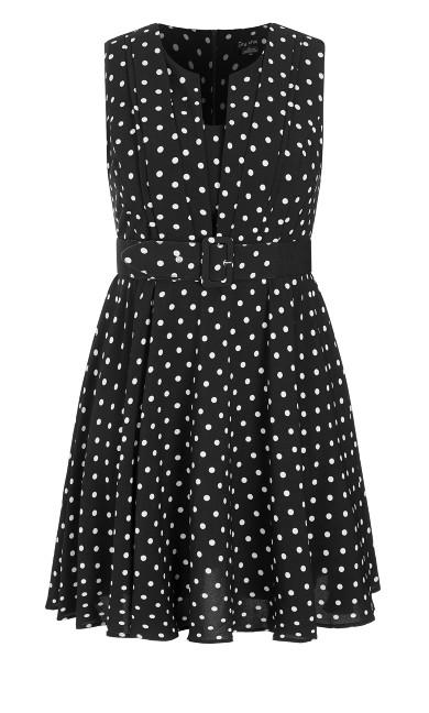 Vintage Spot Dress - black