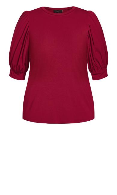 Sweet Sleeve Top - ruby