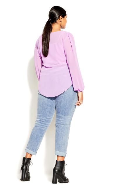 Desire Tie Top - lilac