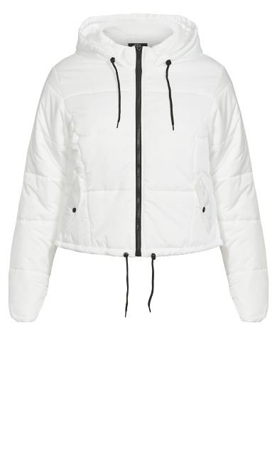 Streetwise Puffa Jacket - ivory