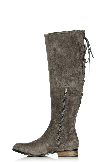 Perry Flat Knee Boot - steel