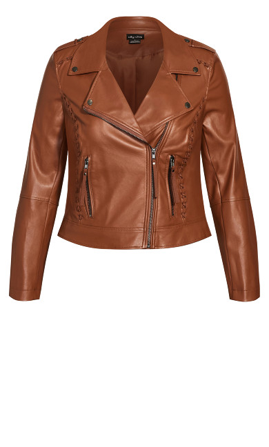 Cross Stitch Biker Jacket - ginger
