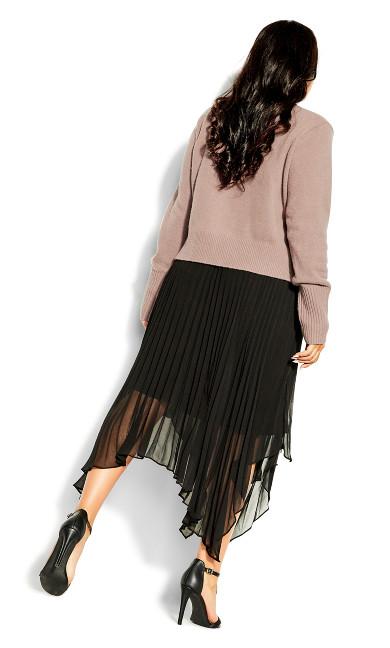 Pleated Crop Dress - amaretto