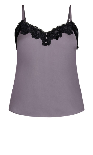Lace Eclipse Cami - mink