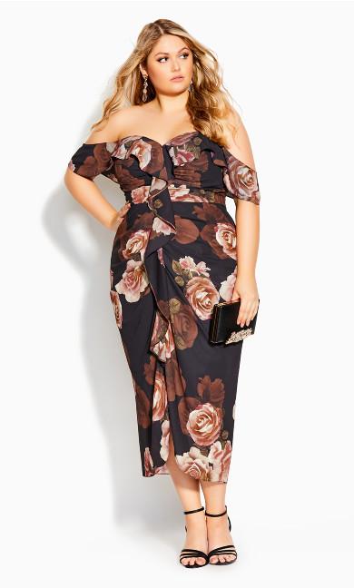 Rose Seduction Dress - black