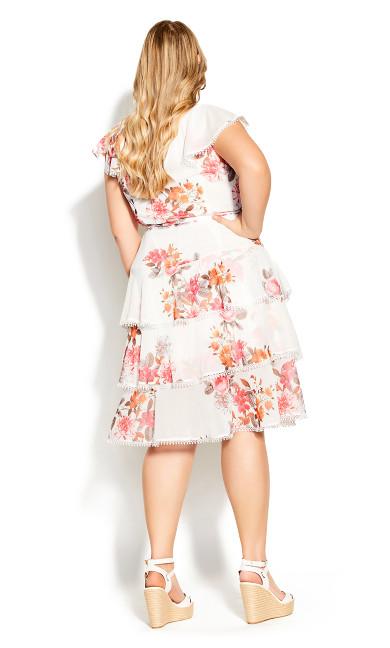Floral Crush Dress - ivory