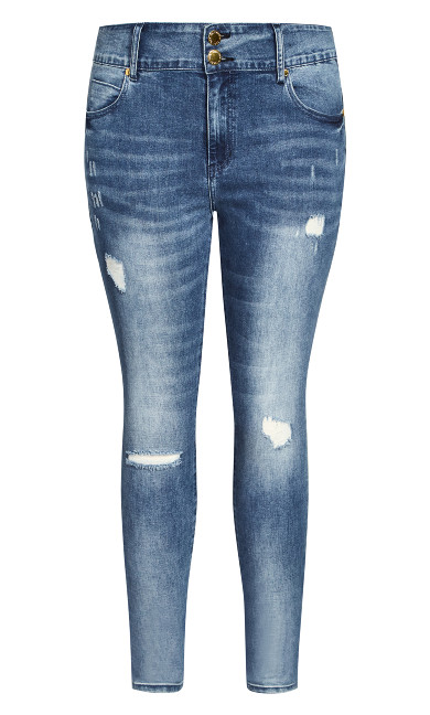 Asha Sweetheart Jean - mid denim