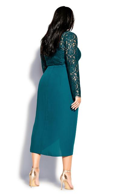 Elegant Lace Dress - teal