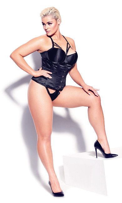 Madame X Steel Boned Underbust Corset - black