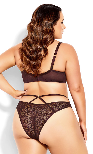 Isabel Cheeky Brief - chocolate