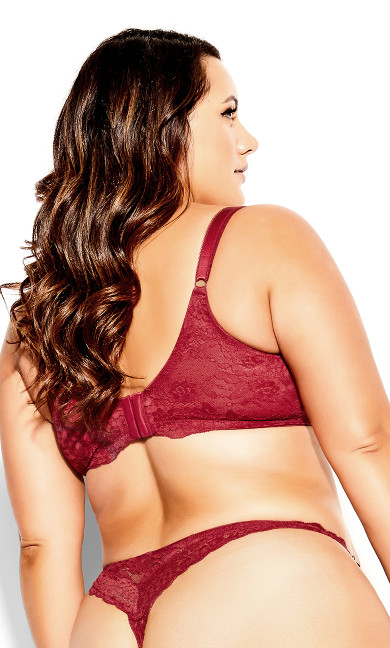 Kayla Pushup Bra - crimson