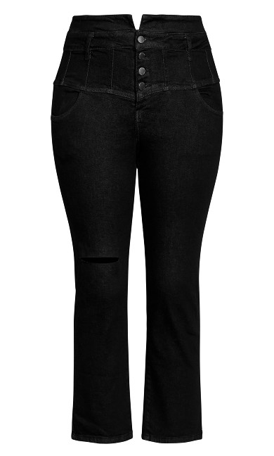 Harley Corset Detail Jean - black