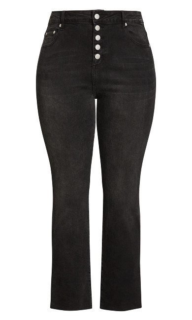 Simple Fray Jean - black wash