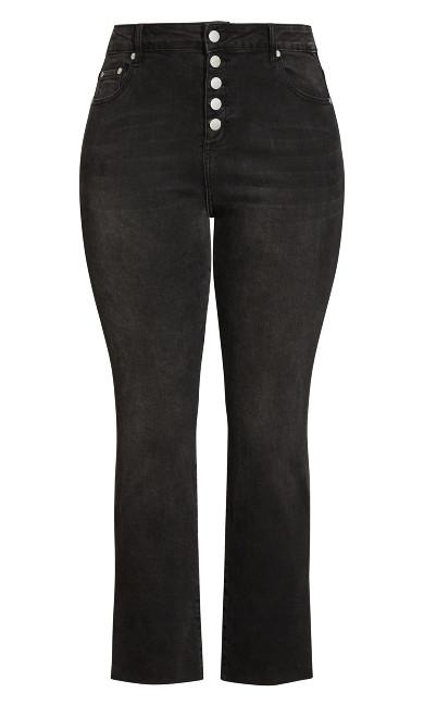 Simple Fray Jean - black wash