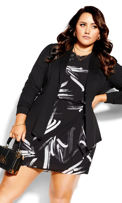Swished Dress - black