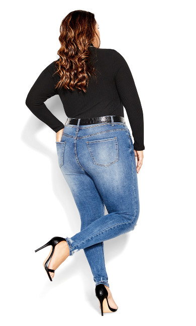 Asha Escape Jean - mid denim