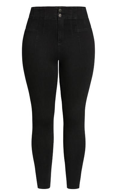 Harley Seam Detail Jean - black