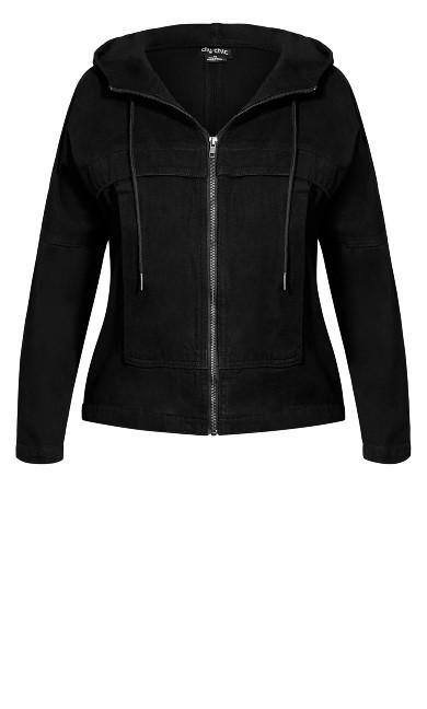 Casual Denim Jacket - black wash