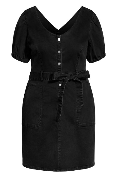 Sweet Puff Dress - black