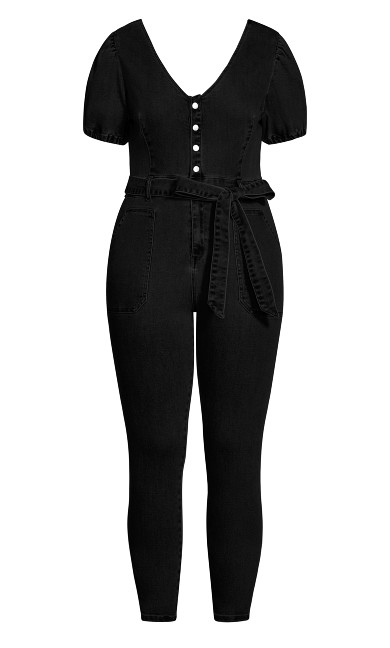 Sweet Puff Jumpsuit - black