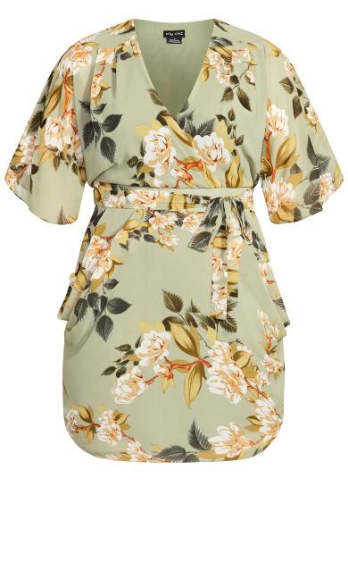 Magnolia Floral Dress - green