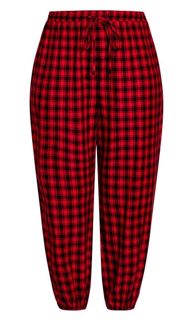 Check Sleep Pant - red