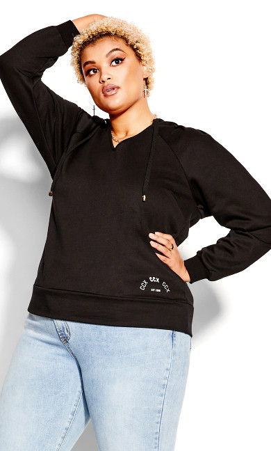 V Obsession Jumper - black