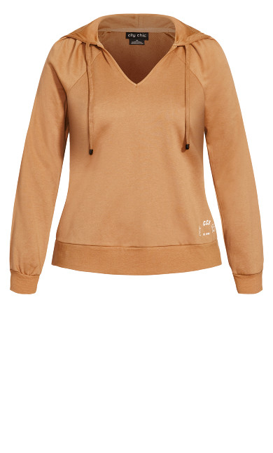 V Obsession Jumper - caramel