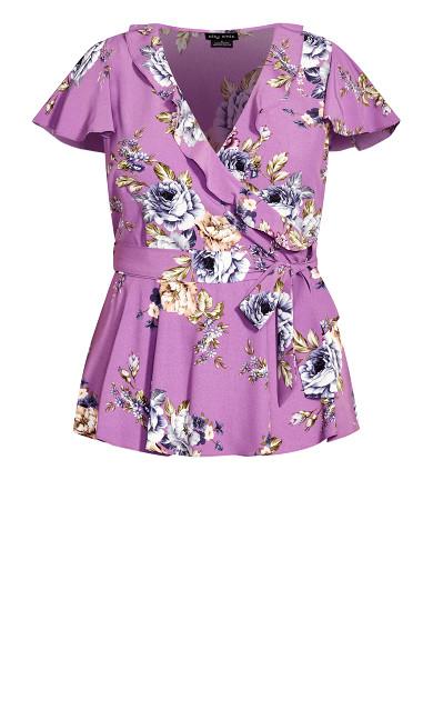 Rose Garden Top - lilac